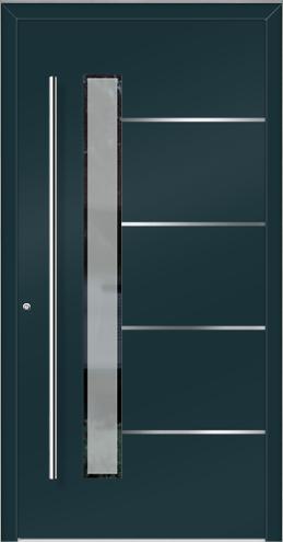 tanio sch co alu haust r fl gel berdeckend mit 3 fach satinato dekorglas und edelstahllisenen. Black Bedroom Furniture Sets. Home Design Ideas