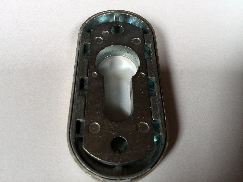 edelstahl oval schieberosette mit aufbohrschutz leichte lagerspuren b ware t. Black Bedroom Furniture Sets. Home Design Ideas