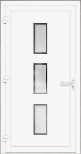 lomis 6 sch co alu haust r mit satinato 3 fach glas und klaren dekorstreifen t. Black Bedroom Furniture Sets. Home Design Ideas